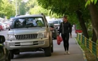 Разрешено ли парковаться на тротуаре?
