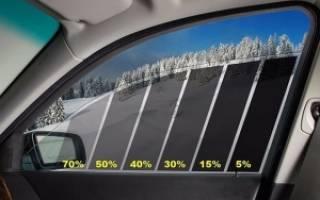 Какая разрешена тонировка передних стекол автомобиля?