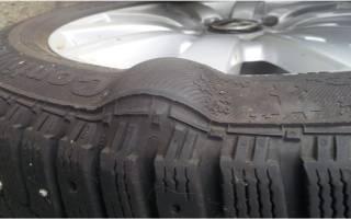 Грыжа на шине можно ли ездить